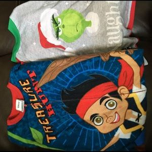 The Grinch and Jake the Pirate pajamas size 4 4T